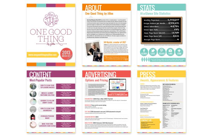 Here s how to create a media kit for your blog monsterpost for Press kit design
