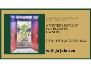 Laos writing retreat brochure